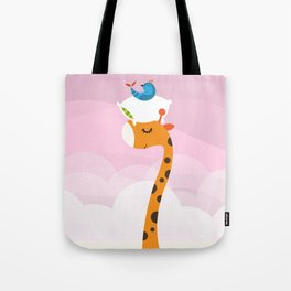 Orange Sleep Tote Bag