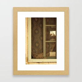 lace curtains in alacati Framed Art Print