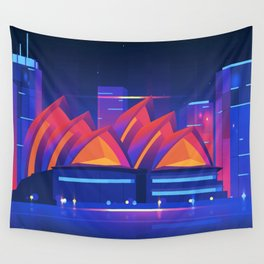 Synthwave Neon City #22: Sidney Wall Tapestry
