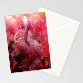 """Betta splendens Tropical Dream (Siam fighter)"" Stationery Cards"