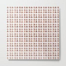 Adinkra pattern Metal Print
