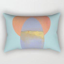Surfboard and Sunrise, west-coast, pacific, surfing art Rectangular Pillow