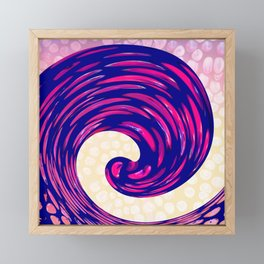 Watching the Waves During Sunset Framed Mini Art Print