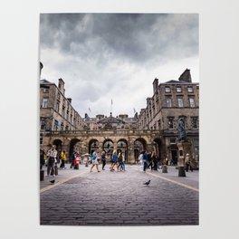 Royal Mile in Edinburgh, Scotland Poster