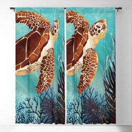 Metallic Sea Turtle Blackout Curtain