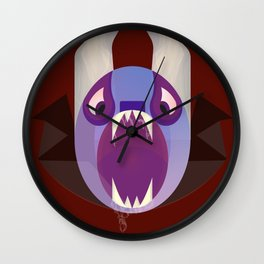 Angry Bat monster Wall Clock
