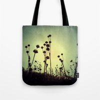 walking dead Tote Bags featuring Walking Dead by Olivia Joy StClaire