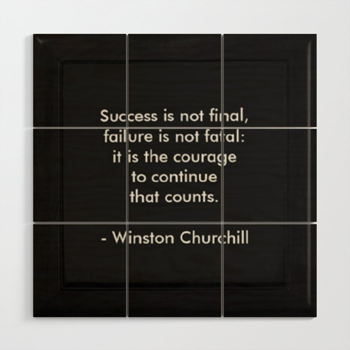Winston Churchill Success Quote Art Famous Quotes Inspirational Quote Corbin Henry Wood Wall Art By Corbinhenry