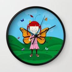 i heart butterflies Wall Clock
