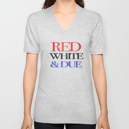 Red, White, & Due Unisex V-Neck