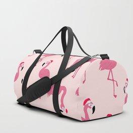 Flock of Christmas Flamingos Duffle Bag