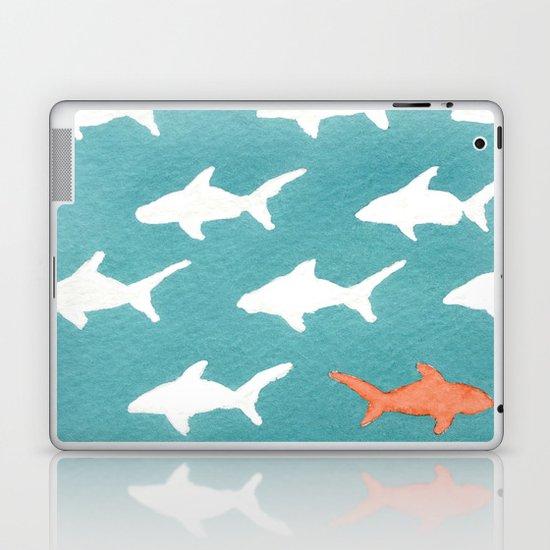 Splashy Sharks Laptop & iPad Skin