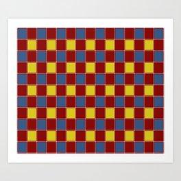 Brightly Stitched Quilt Art Print