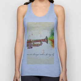 Music Brings Color to My Life Unisex Tank Top