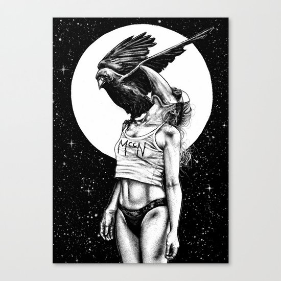 Lovers in the night Canvas Print