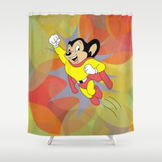 Mighty Mouse - Circles Shower Curtain