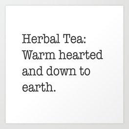 Herbal tea Art Print