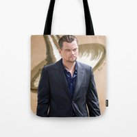 inception Tote Bags featuring Inception - Cobb by Mel Hampson
