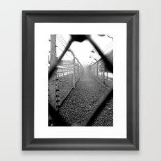 Auschwitz, Poland. Framed Art Print