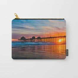 HB Sunsets - Sunset At The Huntington Beach Pier 3/10/16 Carry-All Pouch
