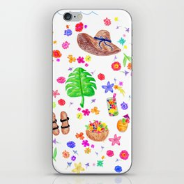 Summer Essentials iPhone Skin