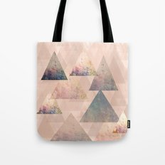 Pastel Abstract Textured Triangle Design Tote Bag