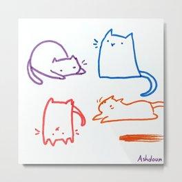 Cats cats cats cats Metal Print