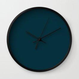 Dark Teal x Solid Color Wall Clock