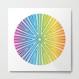 Barcode Sunburst Circle (Full Spectrum) Metal Print