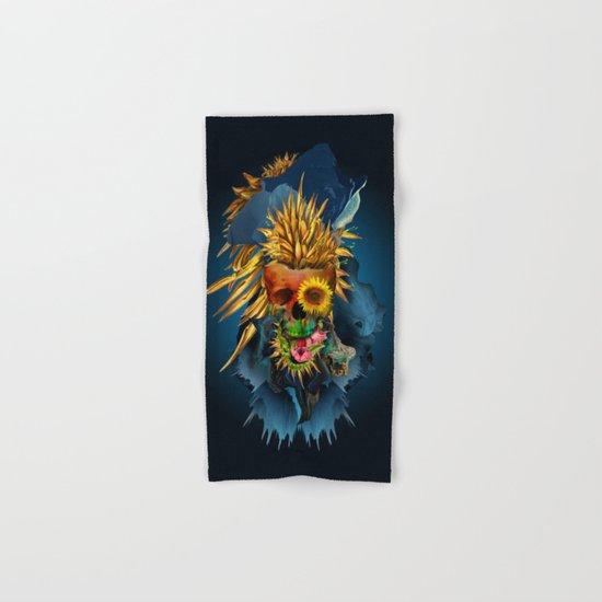 Floral Skull Vivid III Hand & Bath Towel