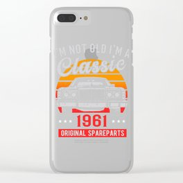 vintold 1961 Clear iPhone Case