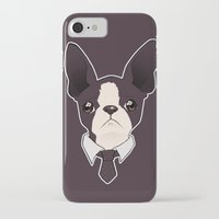 boston terrier iPhone & iPod Cases featuring Boston Terrier by brit eddy