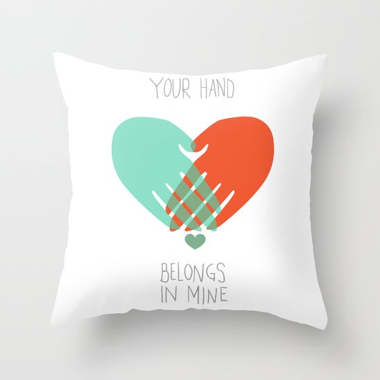 I wanna hold your hand Throw Pillow