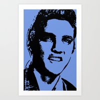 elvis presley Art Prints featuring Elvis Presley by Bill Murray