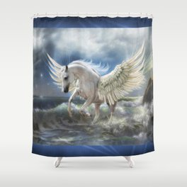 Pegasus Rising Shower Curtain