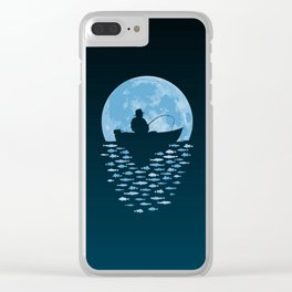 Hooked by Moonlight Clear iPhone Case