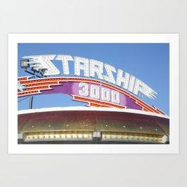 Starship 3000 Art Print