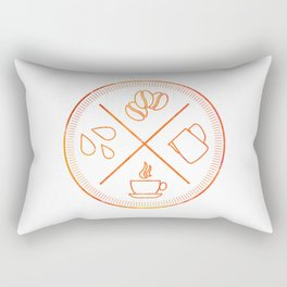 Four Elements of Cappuccino Pictogram Rectangular Pillow