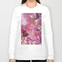 minerals Long Sleeve T-shirts featuring Pink Gemstone by Kristiana Art Prints