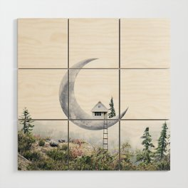 Moon House Wood Wall Art