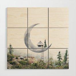 Moon House Wood Wall Art