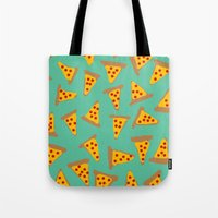 pizza Tote Bags featuring pizza by AshlynDrake
