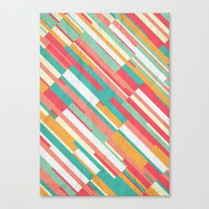 Drop Lines Canvas Print