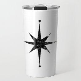 black 8 point stars Travel Mug