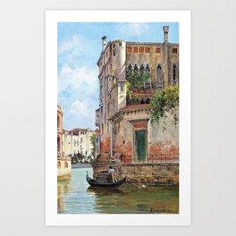 Antonietta Brandeis - Palazzo Contarini - Digital Remastered Edition Art Print