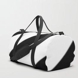 Soft Diagonal Black and White Stripes Duffle Bag