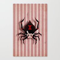 black widow Canvas Prints featuring Widow by willjames