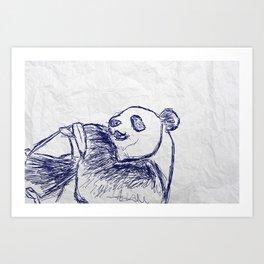 Panda doodles Art Print