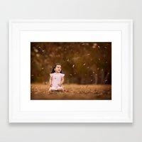 charli xcx Framed Art Prints featuring Charli Leaves by AngelaDanielle