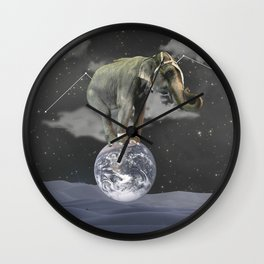 a giant elephant Wall Clock